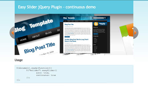 jQuery Scripts for Creating Cool Image Slideshows