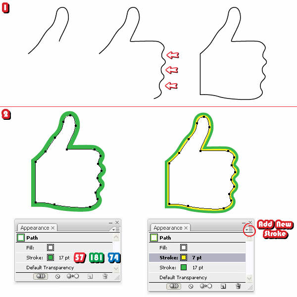 Quick Tip: How to Create a 3D Like and Unlike Symbol with Adobe Illustrator