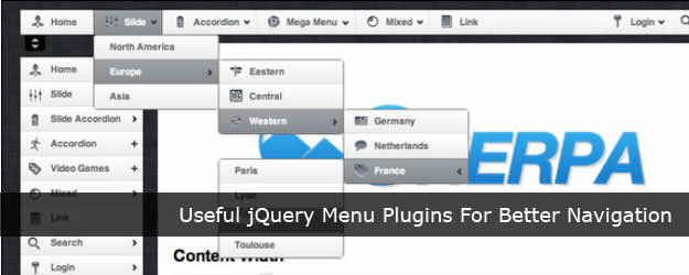 45 Useful jQuery Menu Plugins For Better Navigation