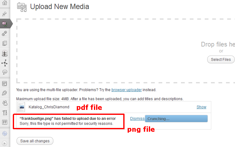 Restrict Mime Types on WordPress Media Upload