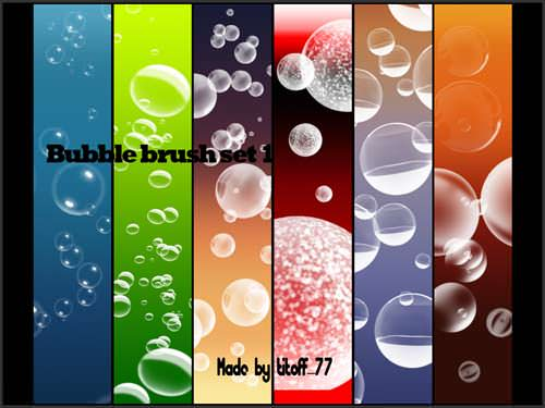 Huge Collection of Free Photoshop Bubble Brushes for Designers