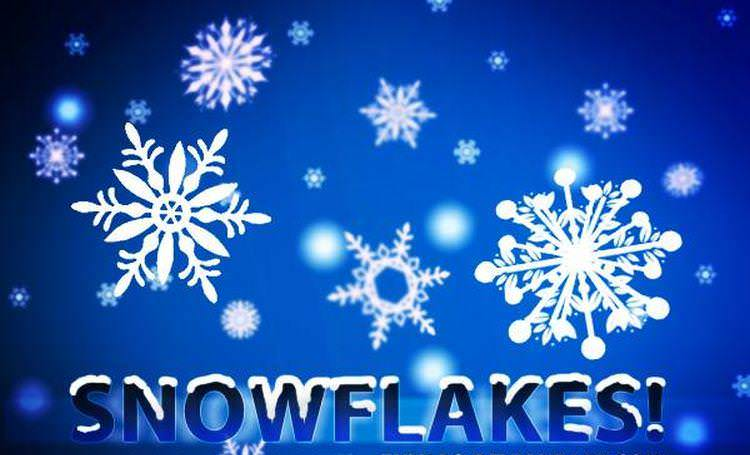 30 Snow flakes Photo shop Brushes for your pleasure