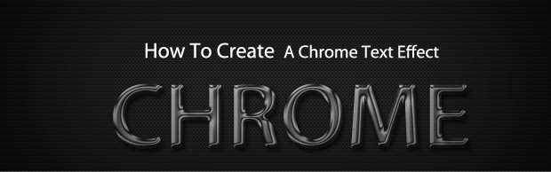 How To Create A Quick And Easy Chrome Text Effect In Photoshop