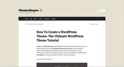 15 Tutorials To Help You Build WordPress Themes