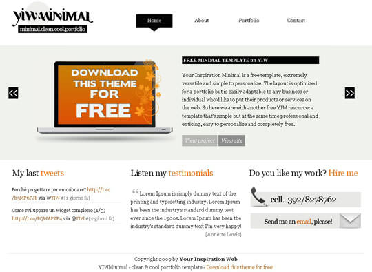 25 Free Minimal and Clean Style XHTML/CSS Website Templates