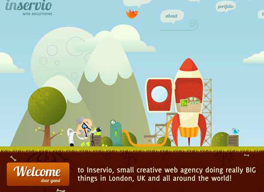 Clouds in Web Design:30 Websites for Your Inspiration
