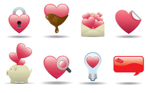 25 Free Happy Valentine's Day Icon Sets