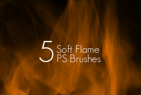 5 Soft Flame Brushes