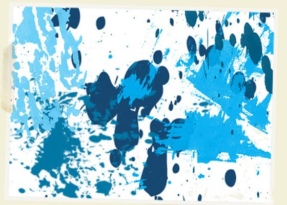30 Great Paint Splatter Brushes for Photoshop