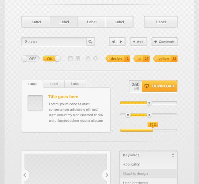Free download: Aresio Web UI Kit