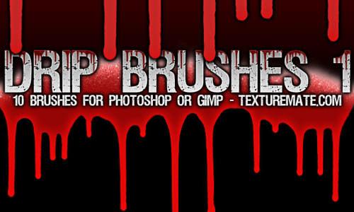 Free 200+ Drip Photoshop Brushes