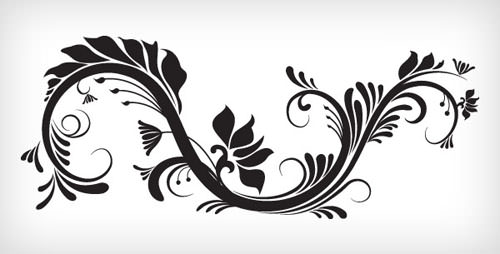 30 Free Swirl,Curly and Floral Vectors for Designers
