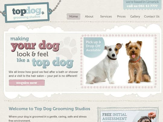 Showcase of Beautiful Pet Websites