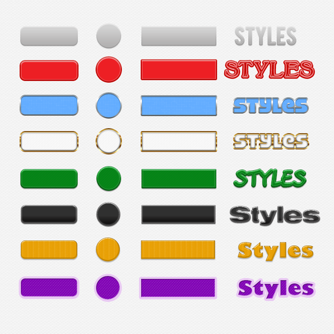 8 Button Styles