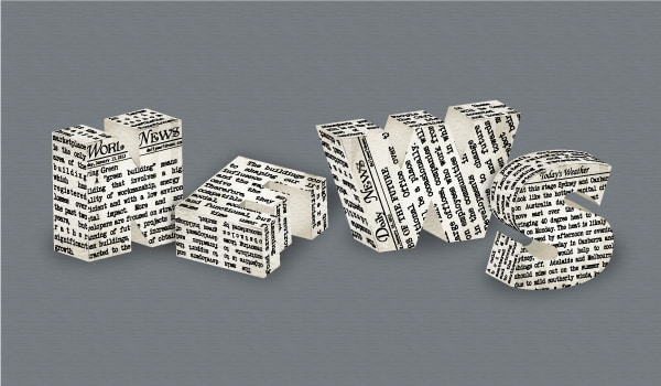 Create a 3D Newspaper, Text Effect in Adobe Illustrator