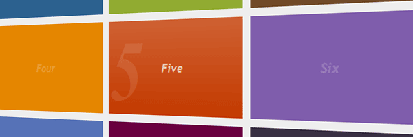Interactive menu with CSS3 & jQuery