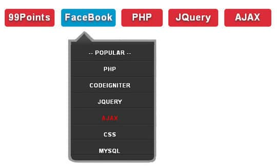 15 Handpicked jQuery Drop Down Menus Tutorials