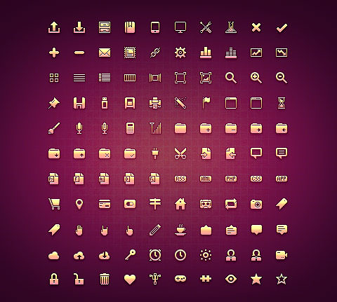 110 Small-Sized PSD Icons – Micro Icon Set