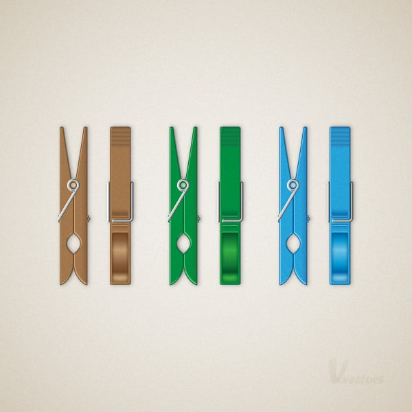 Create a Detailed, Vector Clothespin Illustration