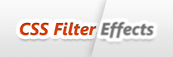 CSS filter effects in action