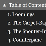 Fixed Table of Contents Drop-Down Menu