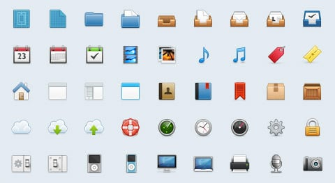 Freshy Icons: 100+ Handcrafted PSD Icons