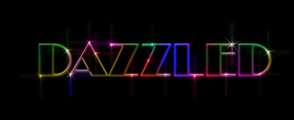 Photoshop Tutorial: How To Create A Colorful Light Outline Text Effect