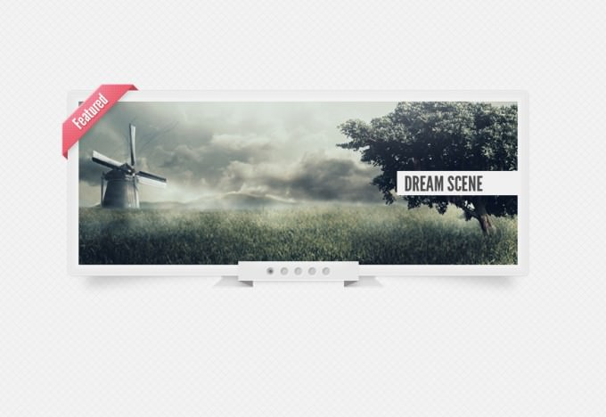 110 Free PSD content slider, ribbons, drop down navigation menu and video players