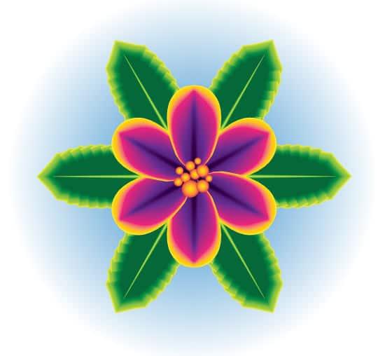 Create a One Stroke Tropical Flower Using Adobe Illustrator CS6