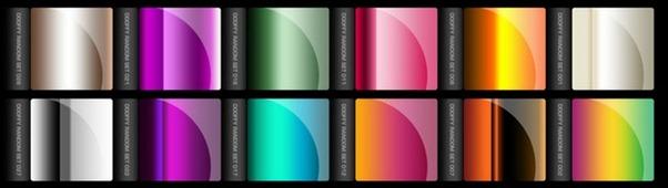 45+ Photoshop Gradient Sets For Web Designers