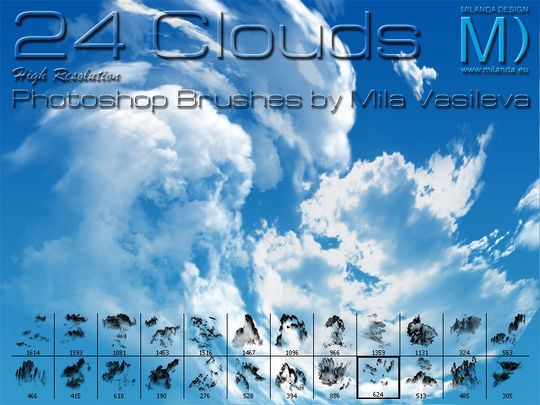 18 Free Cloud Photoshop Brushes