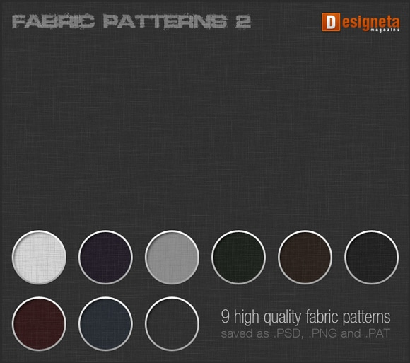 30 Fabric Pattern Sets for your Photoshop Toolbox