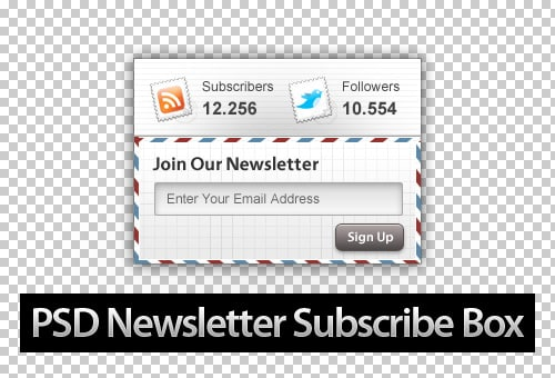 30 Beautiful Free Newsletter Subscribe Box PSD Designs