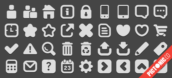 Free Icon Font: Pictonic Cube