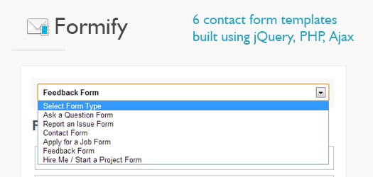 Open Source jQuery PHP Ajax Contact Form Templates With Captcha: Formify