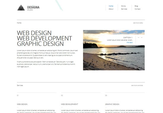 10 High Quality Free HTML/CSS Templates