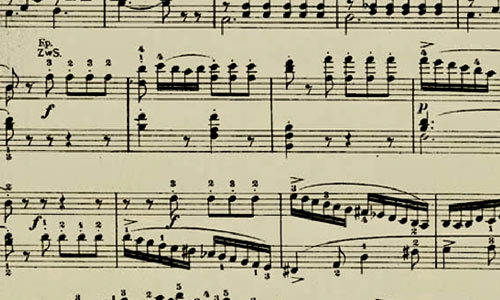 A Collection of High Quality Music Notes Texture