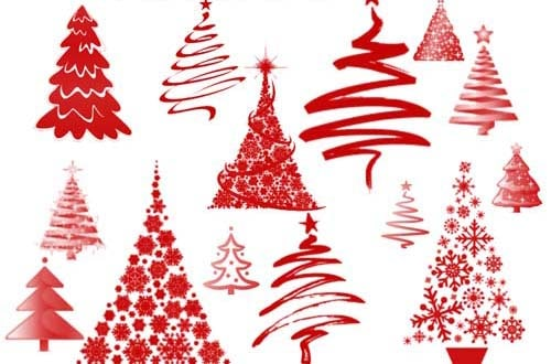 50+ Free Christmas Trees and Decoration Brushes For Photoshop
