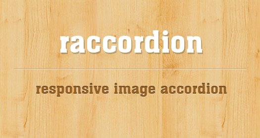 jQuery Responsive Horizontal Accordion Image Slider: raccordion