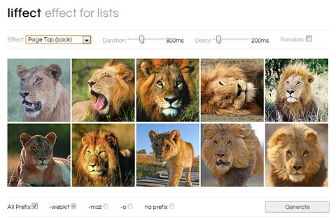 A Bunch Of CSS Animation Effects For Lists: Liffect | Best 4