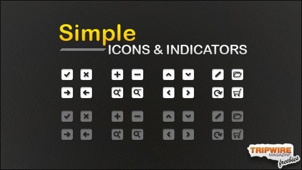Freebie – Set Of Simple Icons & Indicators