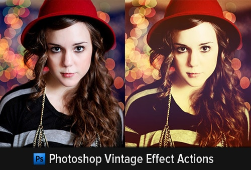 55 Time Saving Free Photoshop Actions For Vintage Effect
