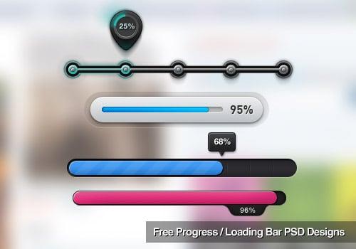 110 Free Progress / Loading Bar PSD Designs