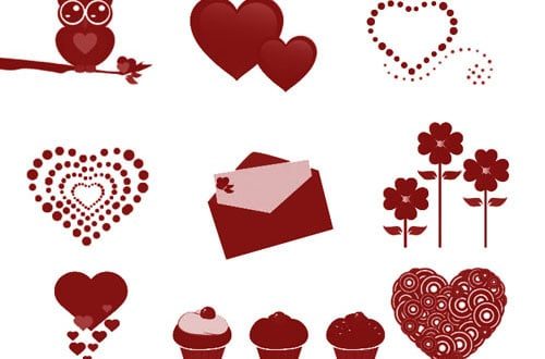 30 Sets Of Free Photoshop Brushes For Valentine's Day
