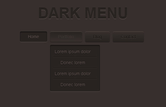 48 Free Dropdown Menu In HTML5 And CSS3