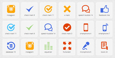Icons DB – 1800+ Flat Icons In Any Color
