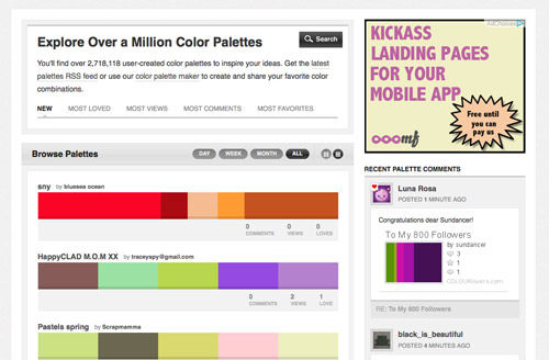 10 Time Saving Online Color Tools for Web Designers