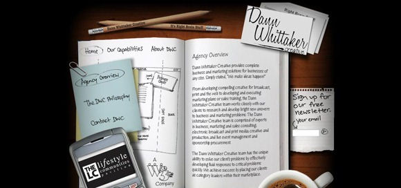 25 Examples of Websites Using Office Stationery in their Designs