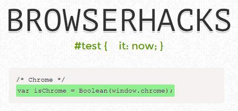 Browser-Specific CSS & JS Hacks: Browserhacks