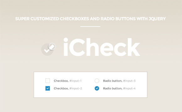 iCheck: Super Customized Checkboxes & Radio Buttons